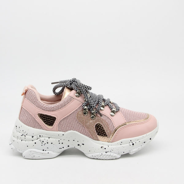 Shoes Dame Sneakers 3189 Shoes Pink