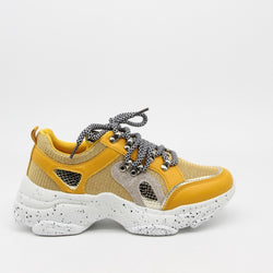 Shoes Dame Sneakers 3189 Shoes Yellow