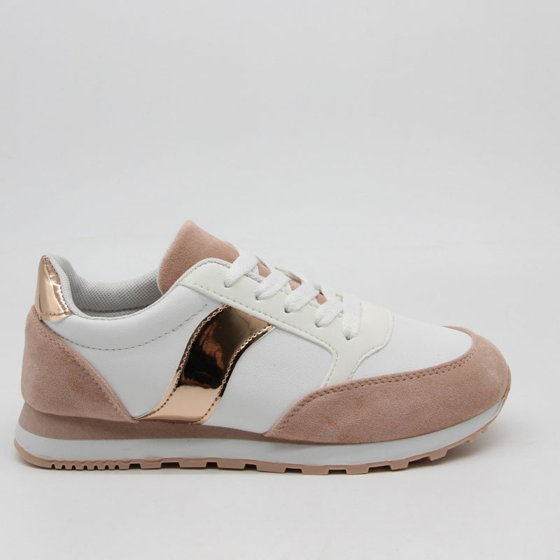 Shoes Dame Sneakers 3193 Shoes Rose