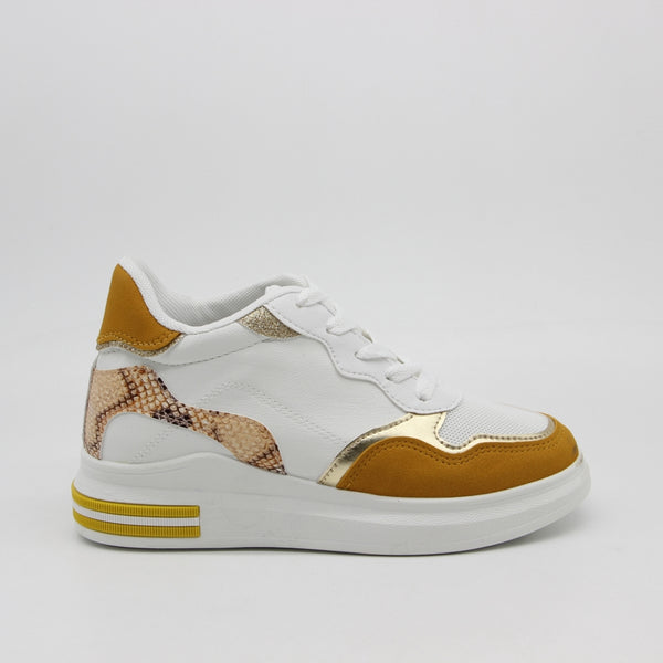 Shoes Dame Sneakers 3198 Shoes Yellow