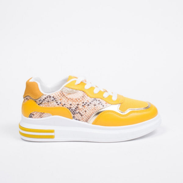 Shoes Dame Sneakers 3199 Shoes Yellow