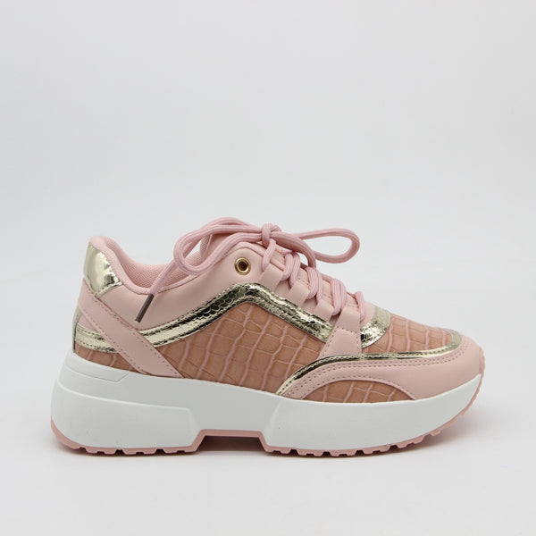 Shoes Dame Sneakers 6103 Shoes Pink