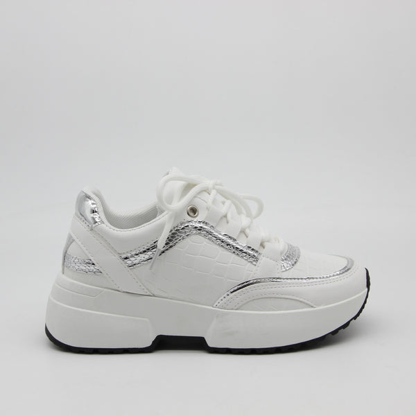 Shoes Dame Sneakers 6103 Shoes White