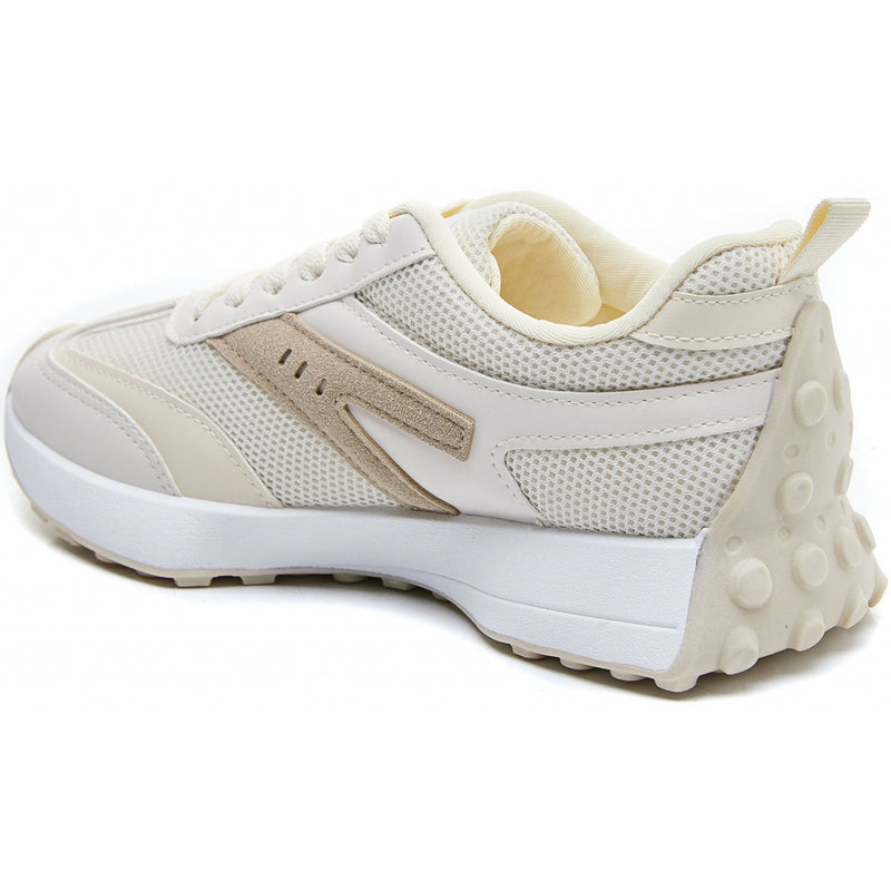 Shoes Dame Sneakers 6115 Shoes Beige