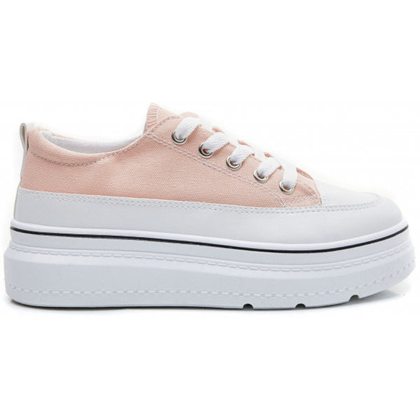 Shoes Dame Sneakers 6151 Shoes Pink
