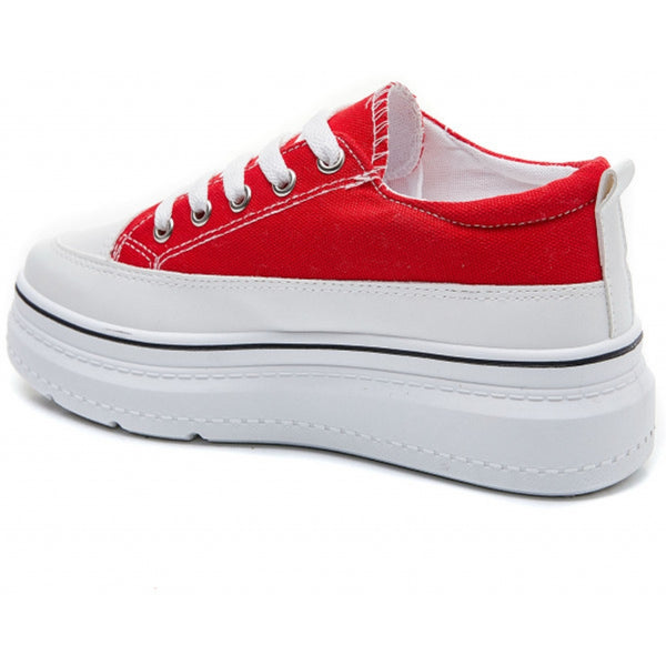 Shoes Dame Sneakers 6151 Shoes Red