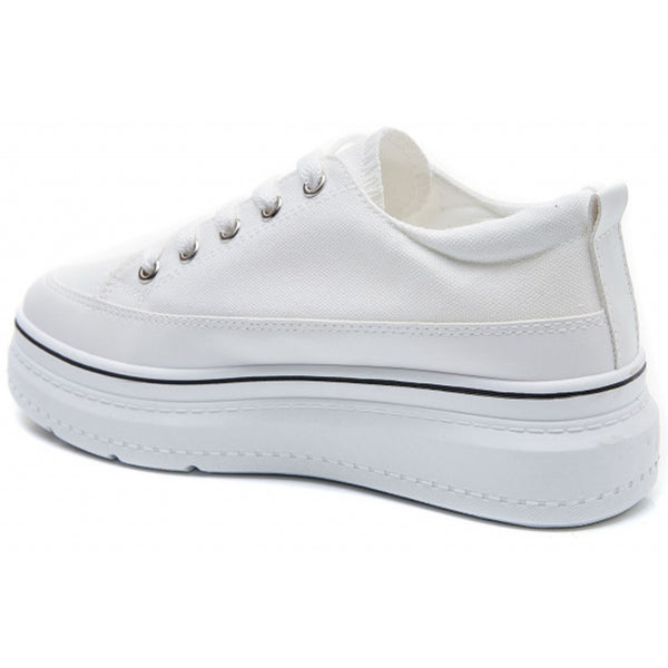 Shoes Dame Sneakers 6151 Shoes White