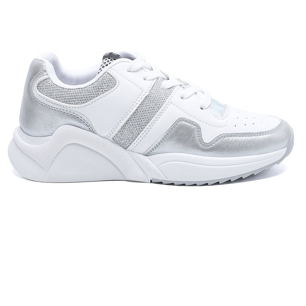 Dame Sneakers 6350 - Silver