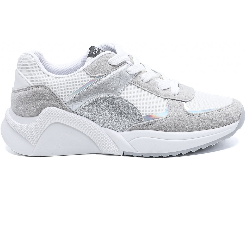 Dame Sneakers 6351 - Silver