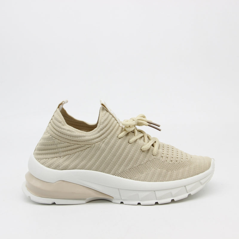Shoes Dame Sneakers 9792 Shoes Beige