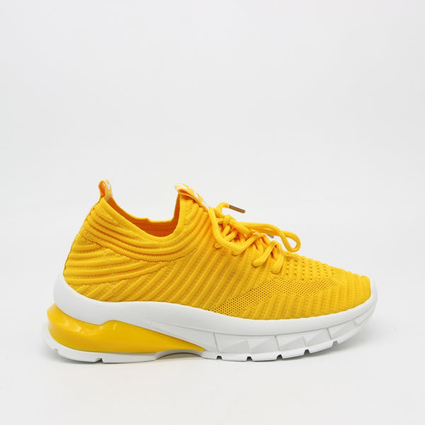 Shoes Dame Sneakers 9792 Shoes Yellow