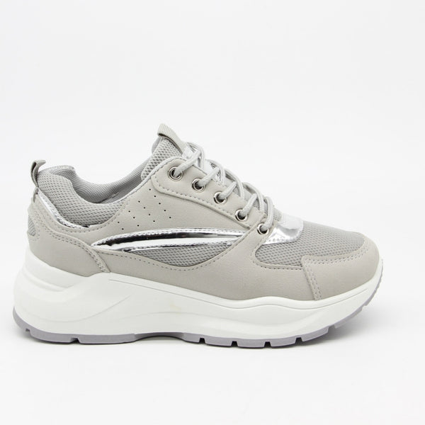 Shoes Dame Sneakers 9795 Shoes Grey