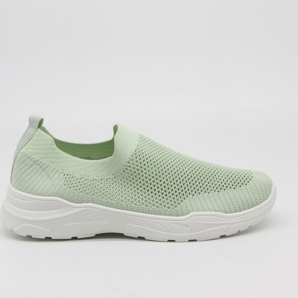 Shoes Dame Sneakers 9865 Shoes Green