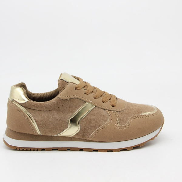 Tex-Time Dame Sneakers C-3123 Shoes Camel