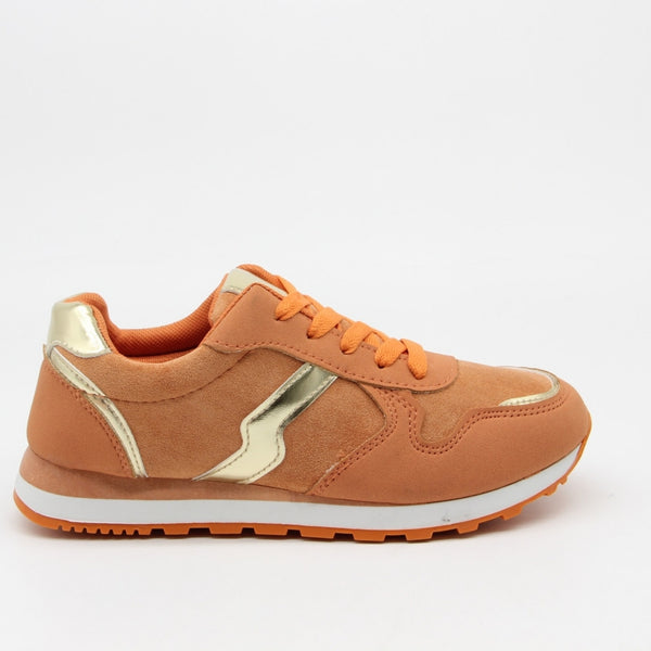 Tex-Time Dame Sneakers C-3123 Shoes Orange