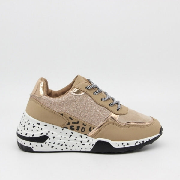 Shoes Dame Sneakers C-3148 Shoes Khaki