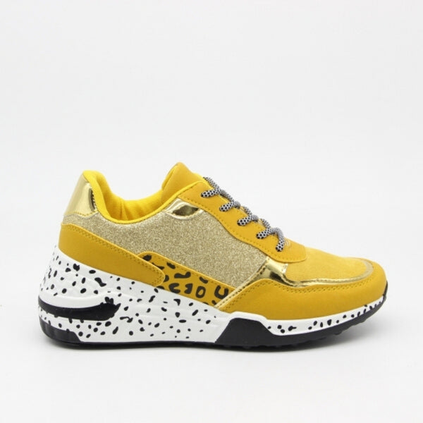 Shoes Dame Sneakers C-3148 Shoes Yellow