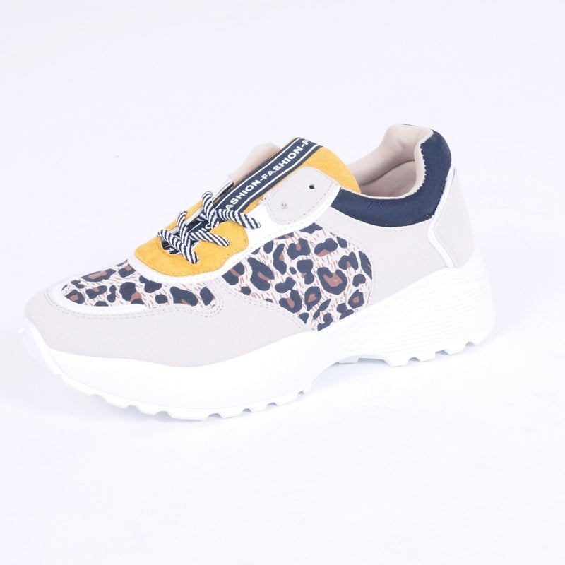 Tex-Time Dame Sneakers Chunky Shoes Yellow