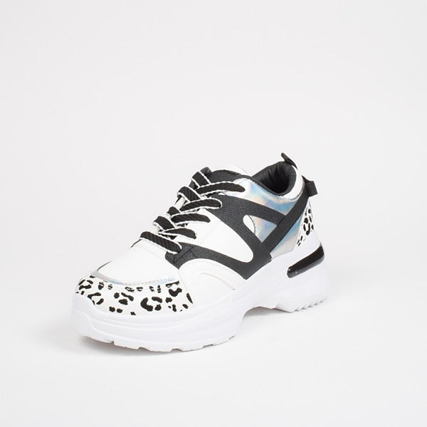 Tex-Time Dame Sneakers Chunky Shoes White