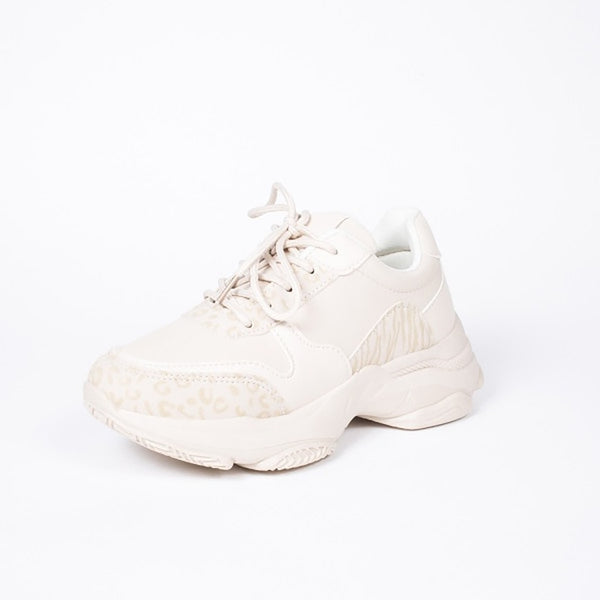 Tex-Time Dame Sneakers Chunky Shoes Beige