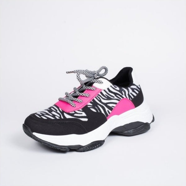 Tex-Time Dame Sneakers Chunky Shoes Zebra