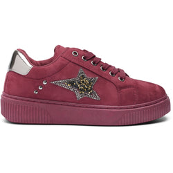 Tex-Time Dame Sneakers PBS1 Shoes Bordeaux