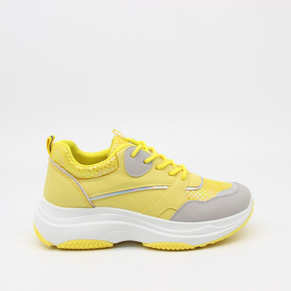 Shoes Dame Sneakers X-9786 Shoes Yellow