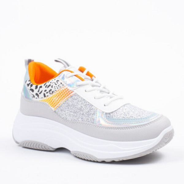 Shoes Dame Sneakers X9789 Shoes Silver