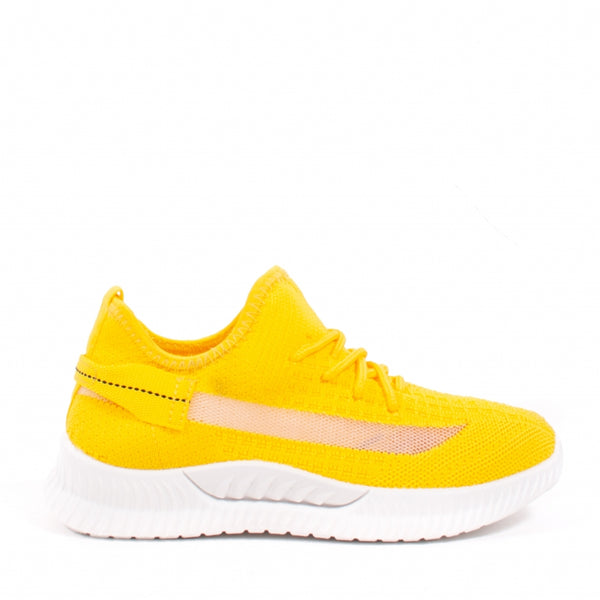Shoes Dame Sneakers ZK080 Shoes Yellow