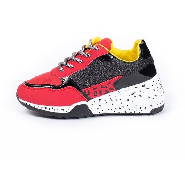 Tex-Time Dame Sneakers chunky Shoes Red