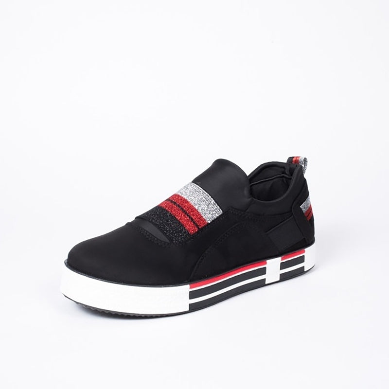 Tex-Time Dame sko Stripes Shoes Black
