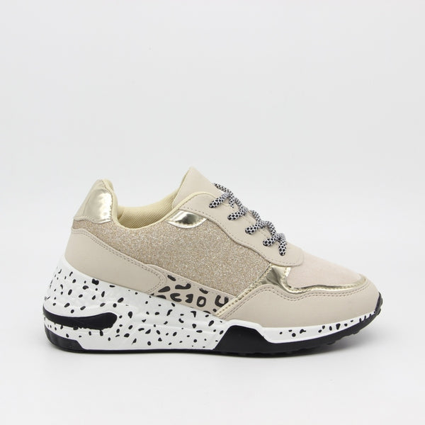 Tex-Time Dame sneakers c3148 Shoes Beige
