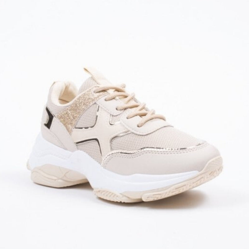 Tex-Time Dame sneakers c3150 Shoes Beige