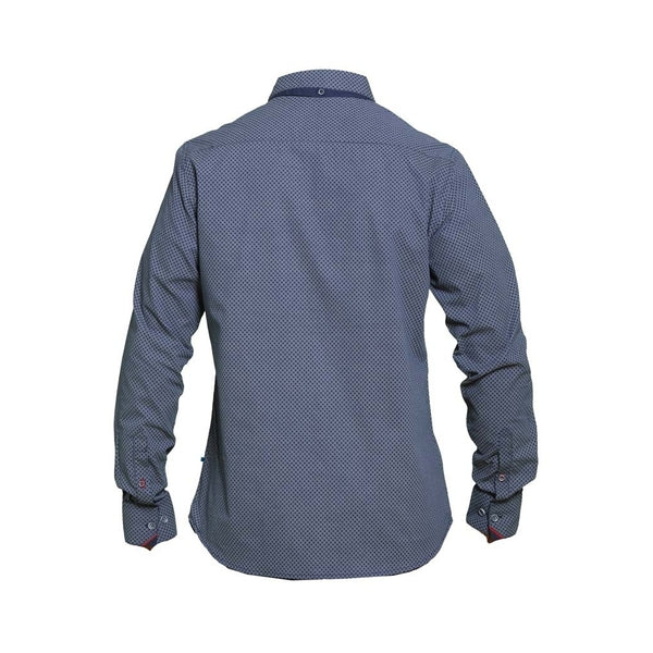 Duke Clothing Duke D555 Herre Langærmet Skjorte Ayton Plus LS Shirt Navy