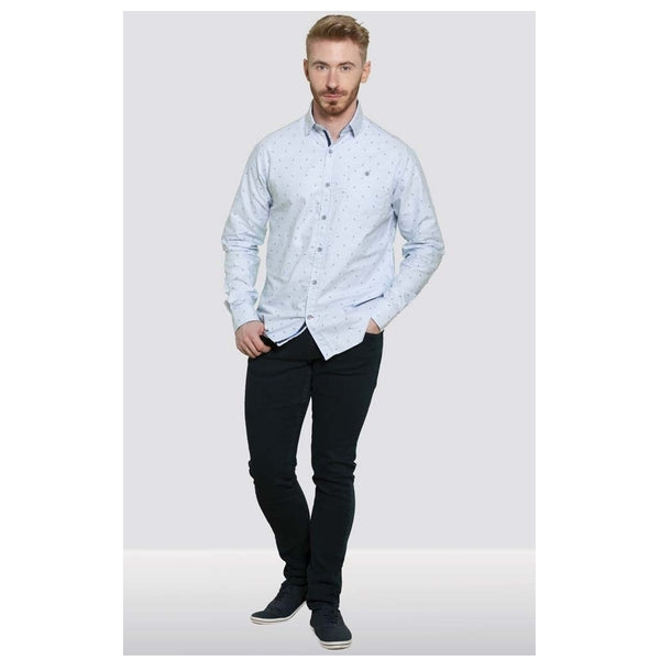 Duke Clothing Duke D555 Herre Langærmet skjorte Addington LS Shirt Light blue