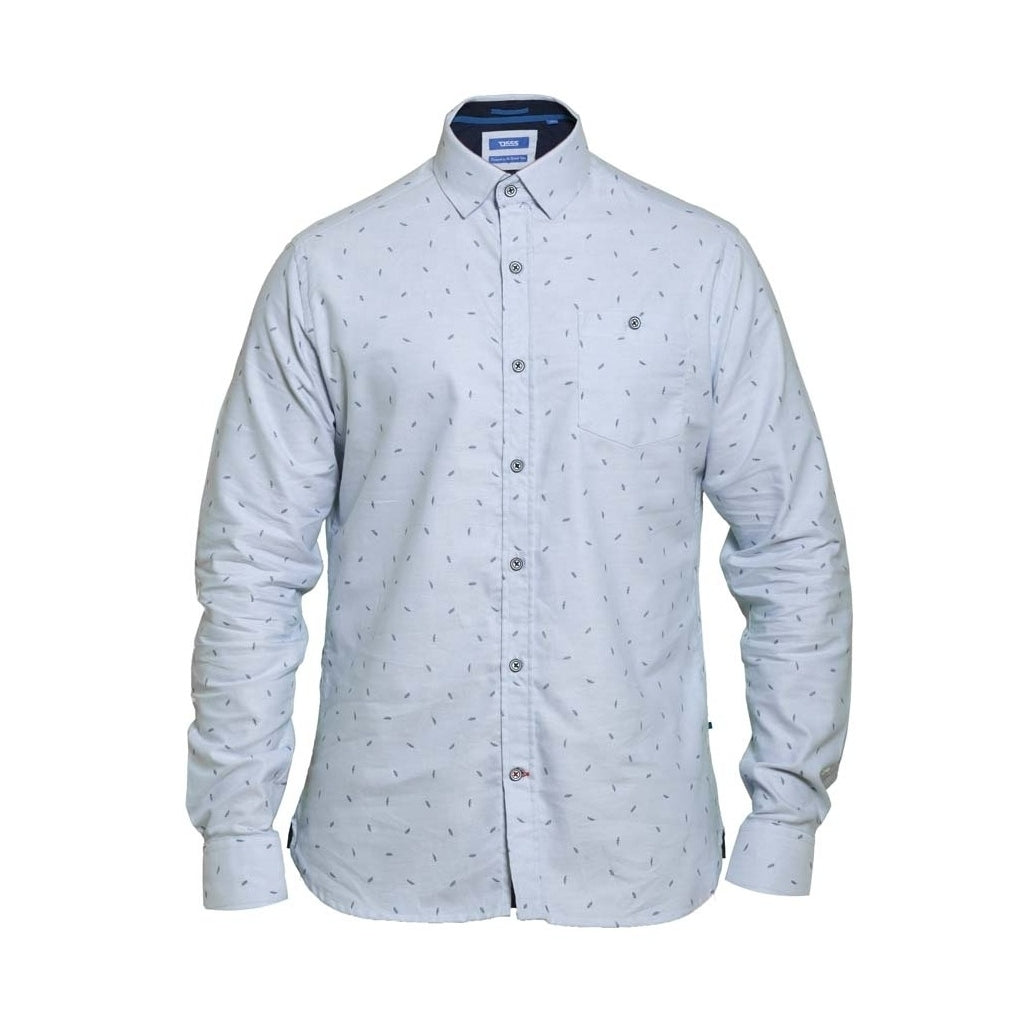 Image of   Duke D555 Herre Langærmet skjorte Addington - Light blue - L
