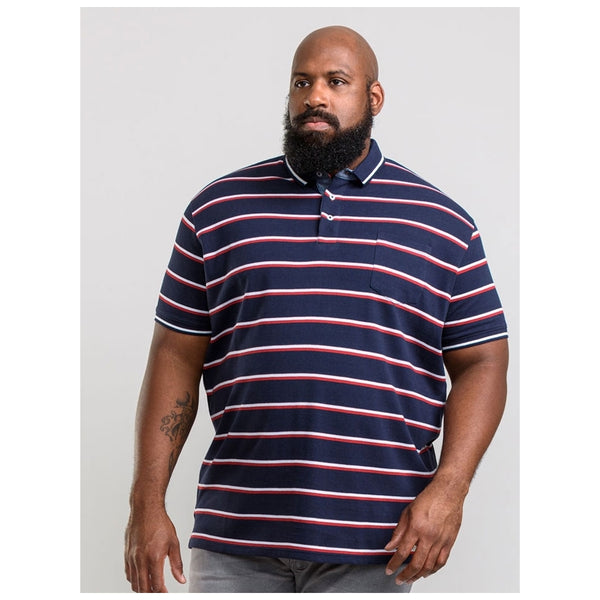 Duke Clothing Duke D555 herre polo holmes1 PLUS Plussize Herre Navy