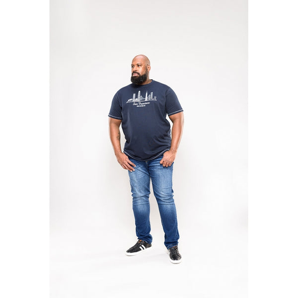 Duke Clothing Duke D555 herre tee Randewick Plus Plussize Herre Navy