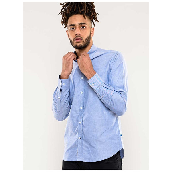 Duke Clothing Duke d555 herre skjorte clarence1 Shirt Blue