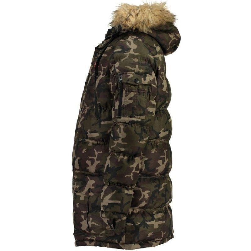 Geographical Norway GEOGRAPHICAL NORWAY Herre Vinterjakke Dunjakke BRAVICI CAMO Winter jacket CAMO KAKI