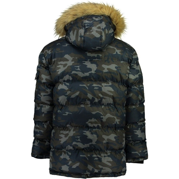 Geographical Norway GEOGRAPHICAL NORWAY Herre Vinterjakke Dunjakke BRAVICI CAMO Winter jacket Camo Navy