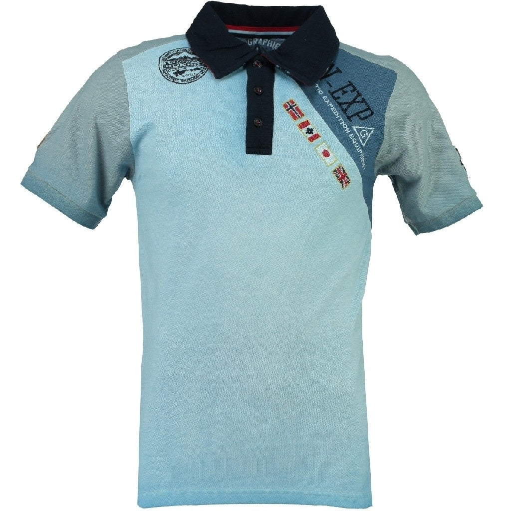 Geographical Norway Polo Herre KASRI - Sky Blue