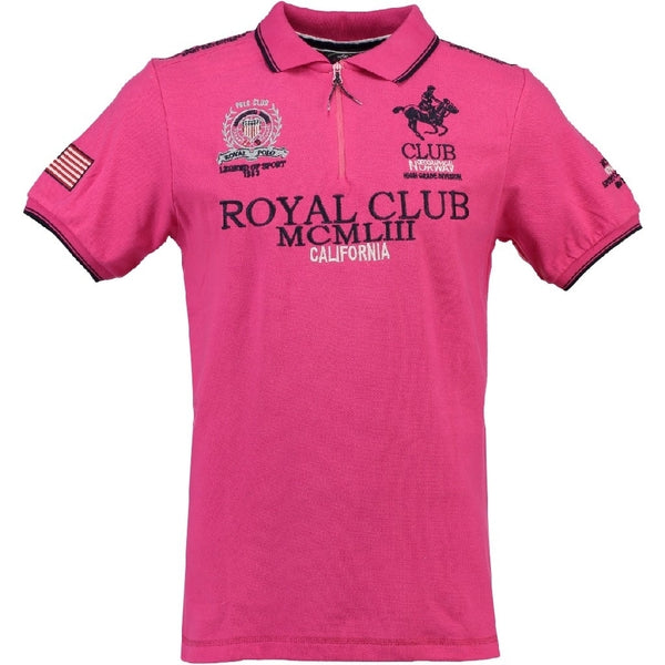 Geographical Norway GEOGRAPHICAL NORWAY POLO Herre KERATINE Polo Pink