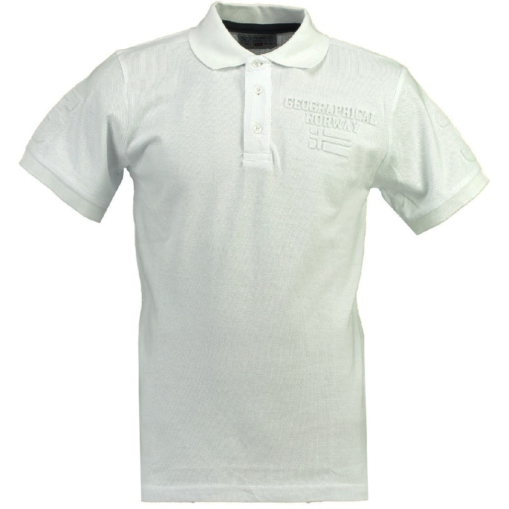 GEOGRAPHICAL NORWAY POLO Herre KEYTHEN - White
