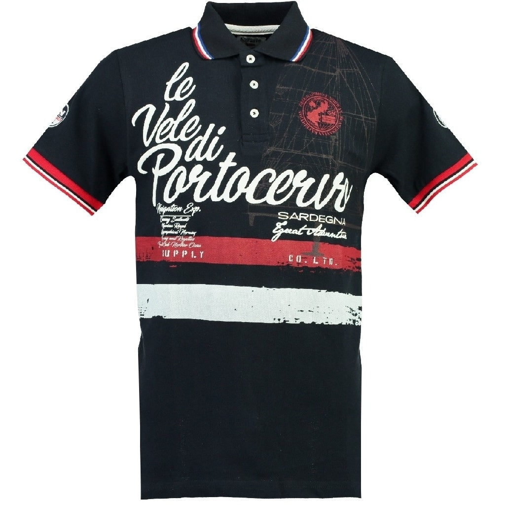 GEOGRAPHICAL NORWAY POLO Herre KINGSLEY - Navy