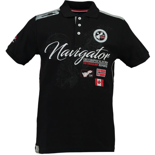 Geographical Norway GEOGRAPHICAL NORWAY POLO Herre KRIMINEL Polo Black