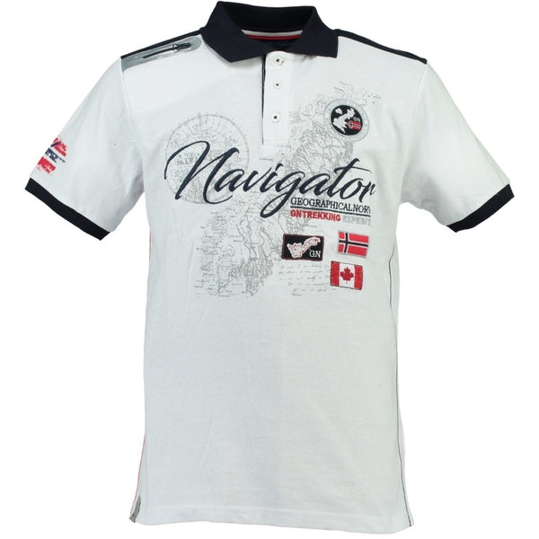 Geographical Norway GEOGRAPHICAL NORWAY POLO Herre KRIMINEL Polo White