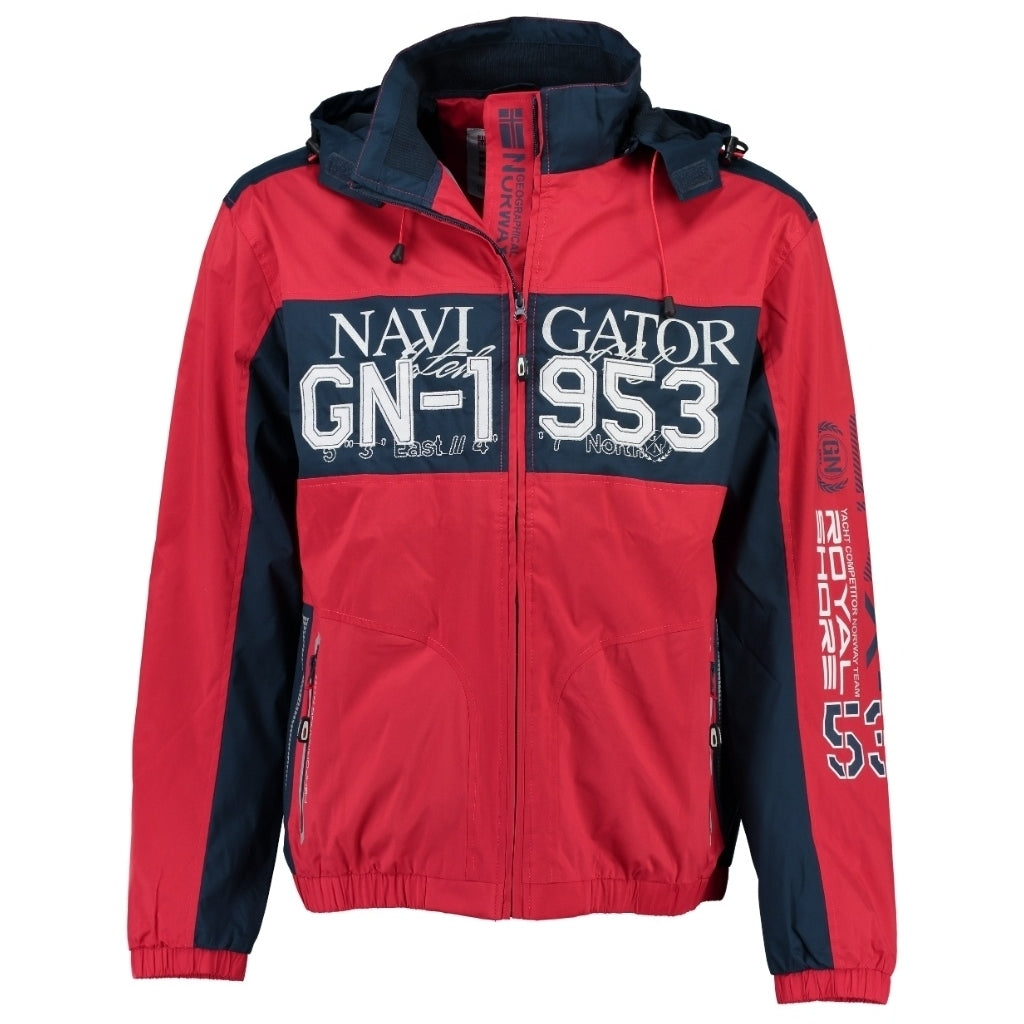 Image of   GEOGRAPHICAL NORWAY Sommerjakke Herre CLAPPING - Navy - Red - XXXL