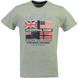 Geographical Norway GEOGRAPHICAL NORWAY T-shirt Herre JIMARE T-shirt Grey
