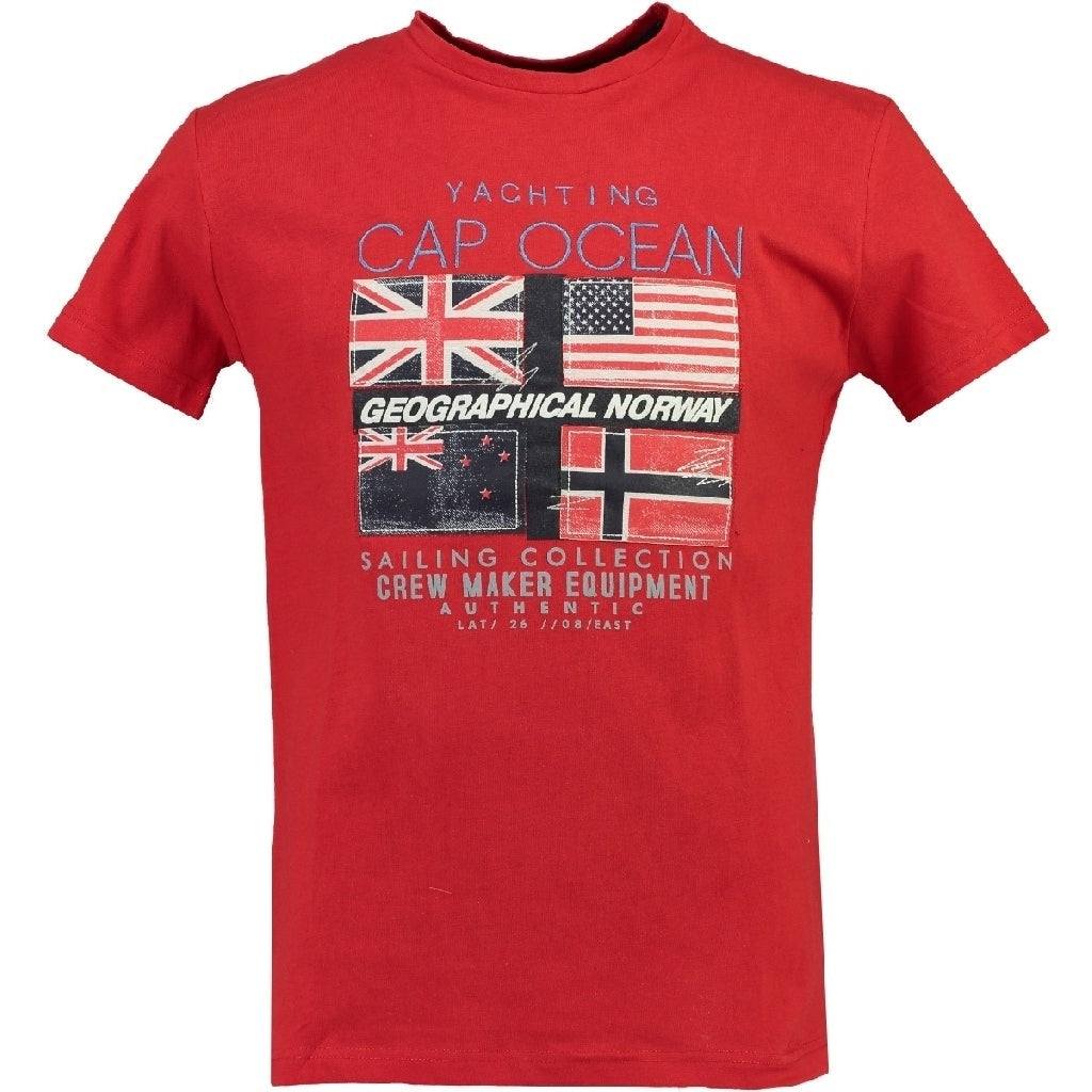 GEOGRAPHICAL NORWAY T shirt Herre JIMARE Red